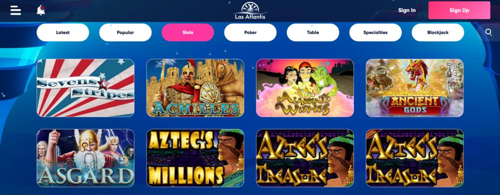 Las Atlantis Casino Games